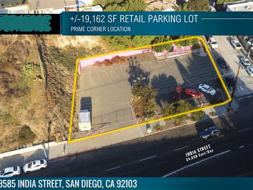 NEW LISTING   +/-19,162 Retail Parking Lot - Prime SD Corner Location