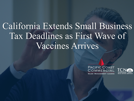 California Extends Small Business Tax Deadlines as First Wave of Vaccines Arrives