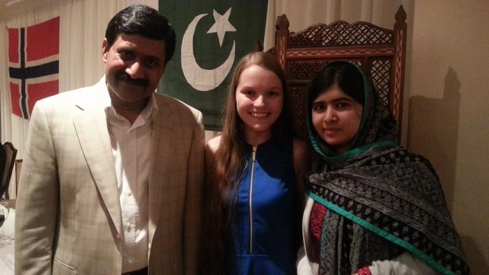 Med fantastiske Malala Yousafzai og hennes far