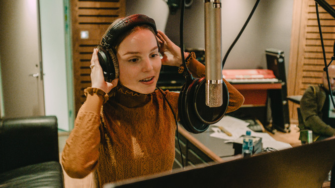 In the studio recording my second album