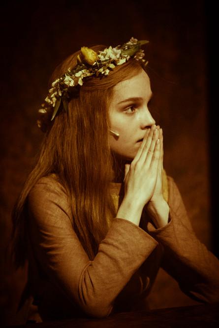 """Unge Kristin"" i musikalen ""Kristin Lavransdatter"" på Den Nationale Scene i 2018"