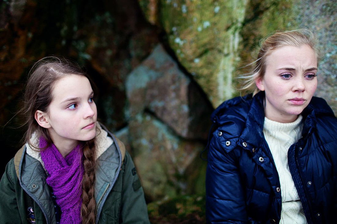 "The role as Astrid in ""Violent"". Here with lead actress Dagny Backer Johnsen"
