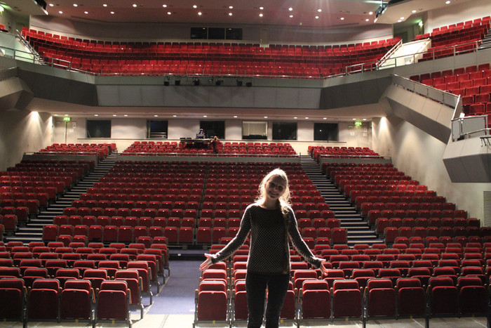 Fra lydprøven i Venue Cymru i Llandudno under UK turneen i 2014.