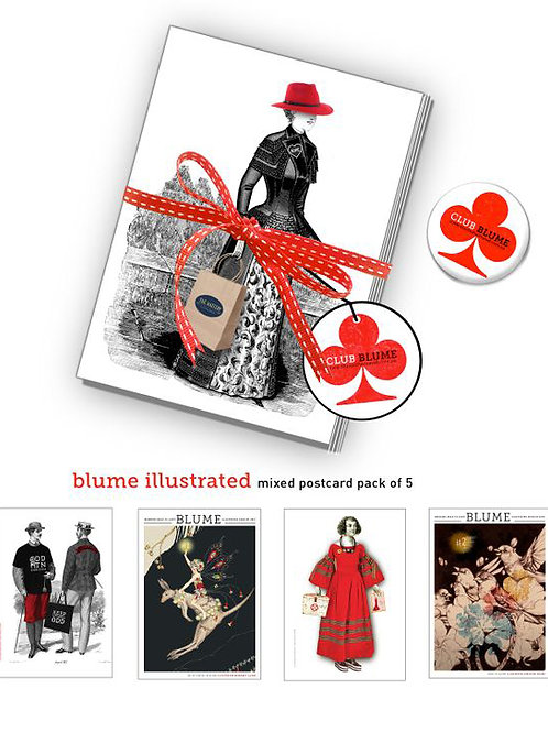 Blume Postcards x 4  ( includes postage )