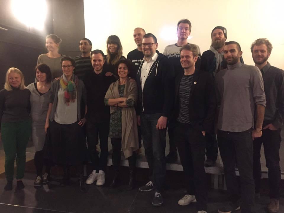 Alle 18 kandidater. På billedet mangler Fanny, Jakob Gorm og Rolf