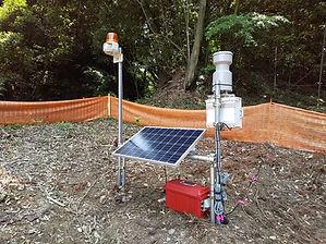 バッテリーECO電源 トルエコ 納入実績-雨量計
