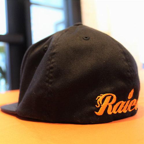 Black Stiched Logo Hat