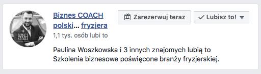 biznes coach polskiego fryzjera FACEBOOK