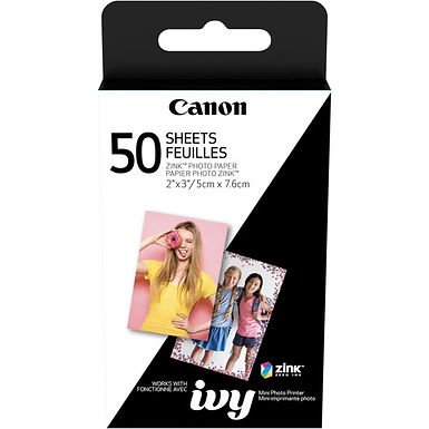 """Canon 2 x 3"""" ZINK Photo Paper Pack (50 Sheets)"""