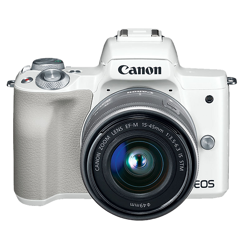 Canon EOS M50 Mirrorless 15-45mm IS STM (White)