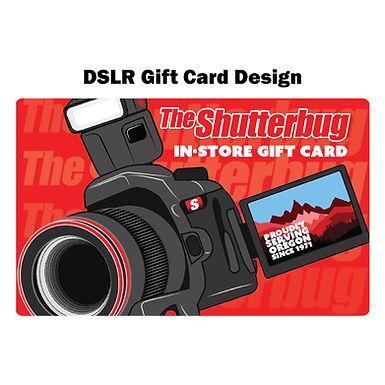 Shutterbug Gift Card (You Choose Price & Design)