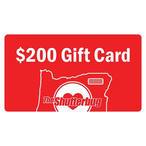 $200 Shutterbug Gift Card