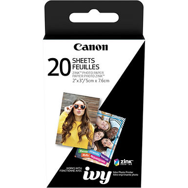"""Canon 2 x 3"""" ZINK Photo Paper Pack (20 Sheets)"""