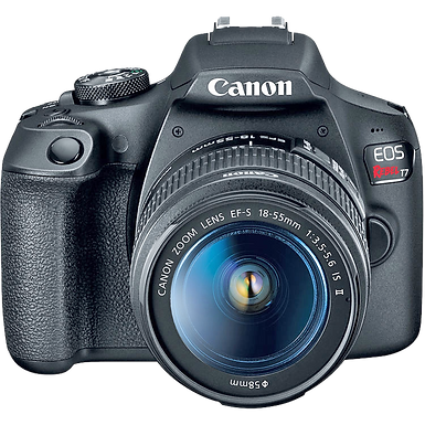 Canon EOS Rebel T7 with 18-55mm IS II