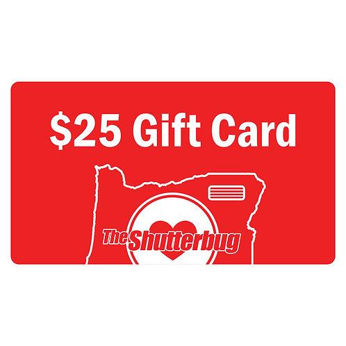 $25 Shutterbug Gift Card