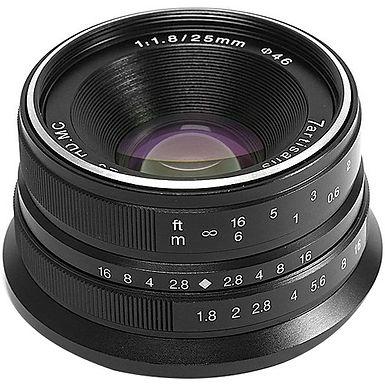 7artisans 25mm f/1.8 Lens for Sony E (Black)