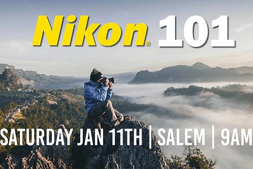 Nikon 101 | Saturday Jan 11th at 9am | Salem