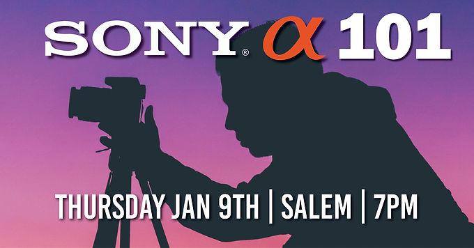 Sony 101   Thursday Nov. 9th at 7pm   Salem