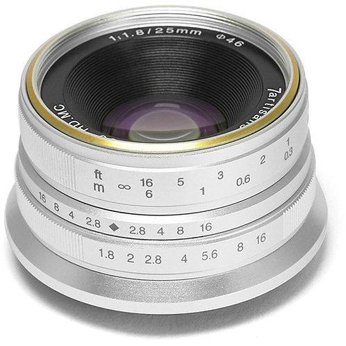 7artisans 25mm f/1.8 Lens for Sony E (Silver)