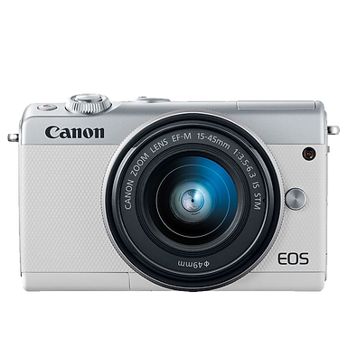 Canon EOS M100 Mirrorless EF-M 15-45mm IS STM (Silver)