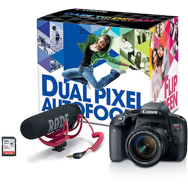 Canon EOS Rebel T7i DSLR+ 18-55mm Lens Video Creator Kit
