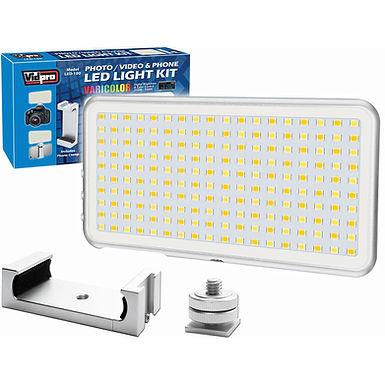 Vidpro LED-180 (Cameras + Smartphones)