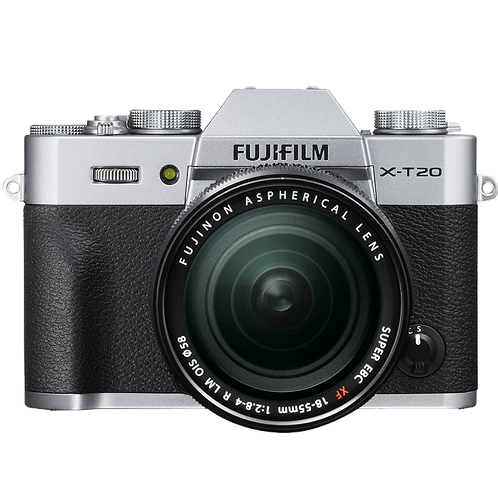FUJIFILM X-T20 with 18-55mm Lens (Silver)