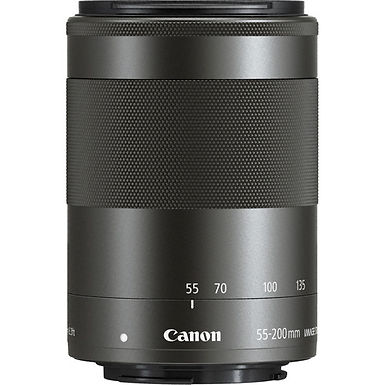 Canon EF-M 55-200mm f/4.5-6.3 IS STM Lens (Black)