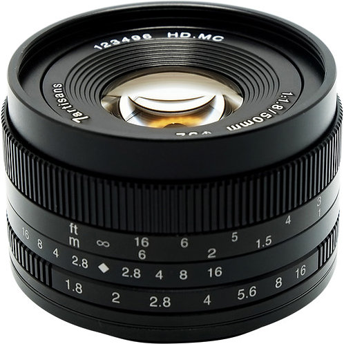 7artisans 50mm f/1.8 Lens for Micro Four Thirds
