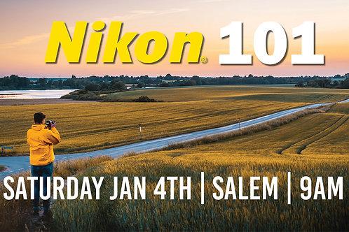 Nikon 101 | Saturday Jan 4th at 9am | Salem