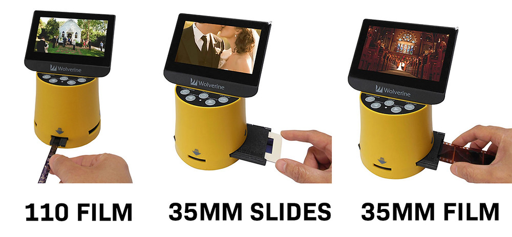 Our most popular negative scanners can scan multiple sizes of film