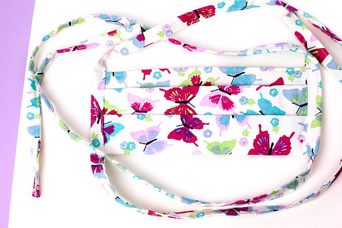 Pink Butterfly Facemask
