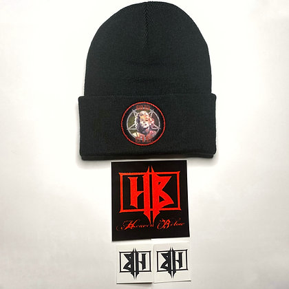 Hb Beanie With Stitched Printed On Patch