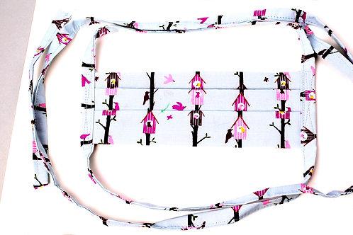 Pink Birdhouse Facemask