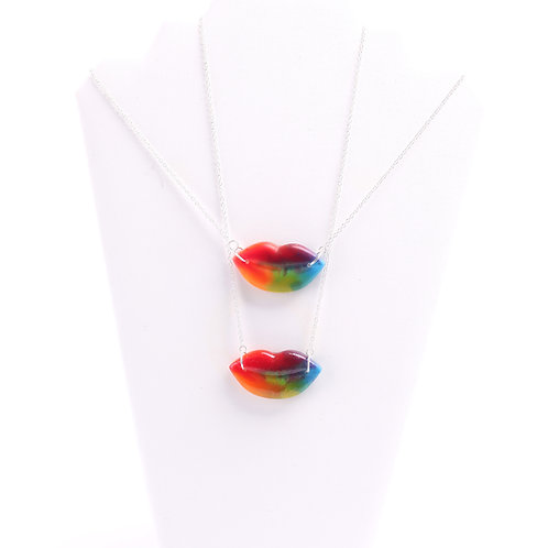 Rainbow Lip Necklace