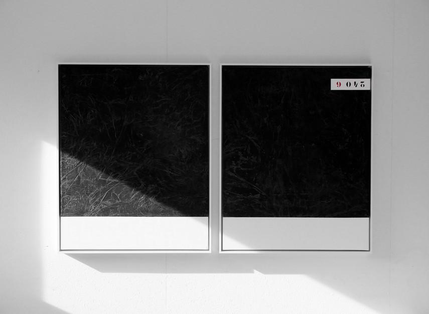 Black Water / 2x, 100x80cm