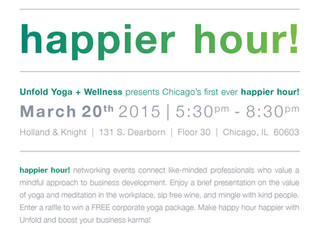 Happier Hour!  |  Mindful Networking Events