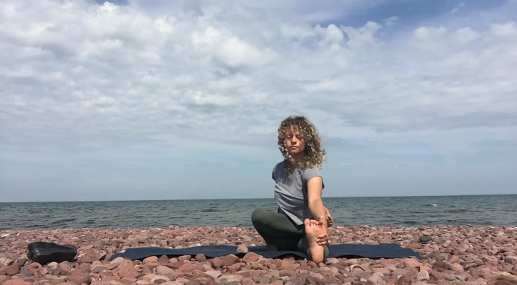 yoga on lake superior