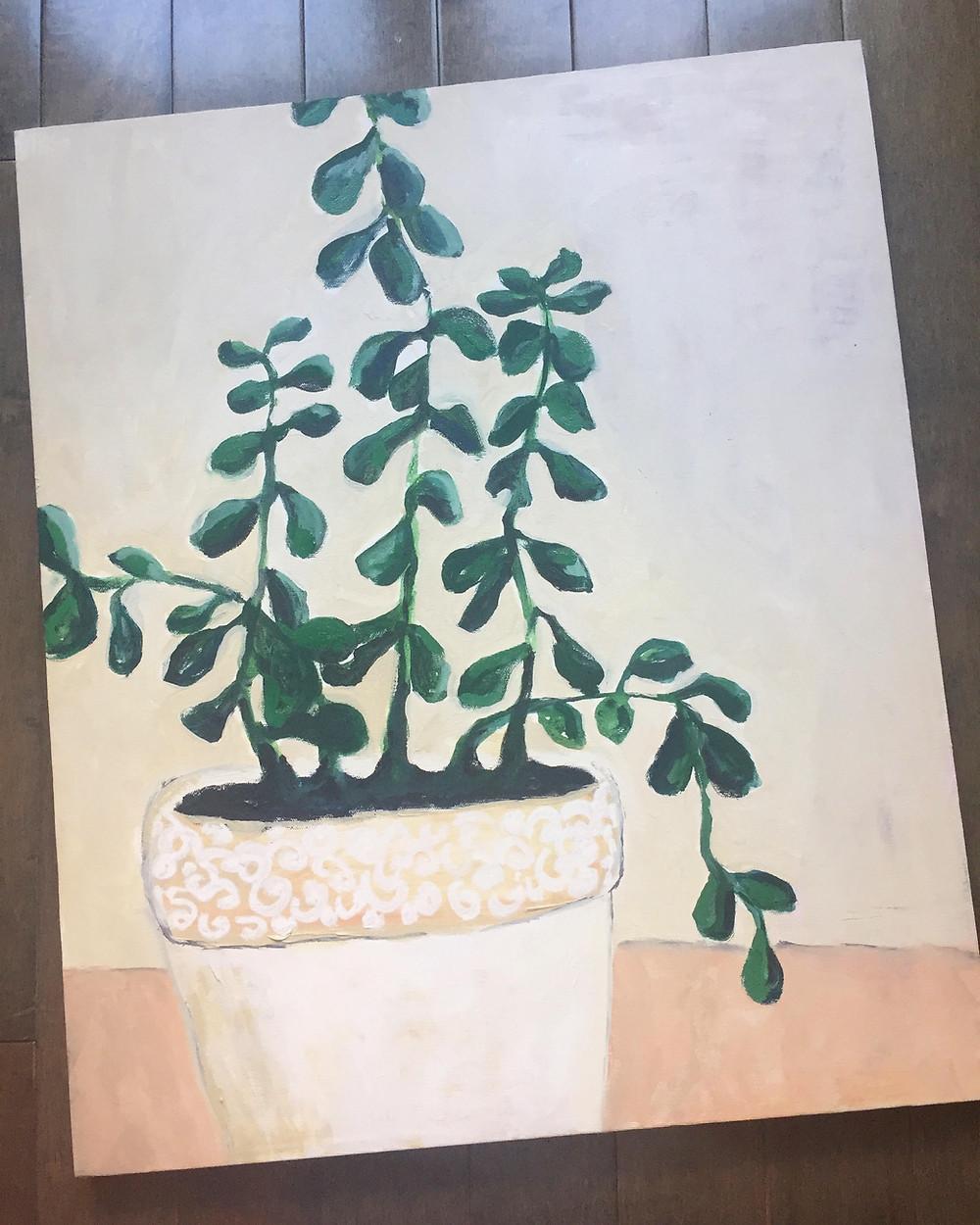 My newest painting, Jade.