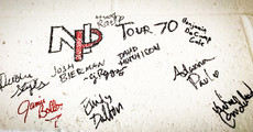 Gotta love signing the wall where so many other great artists have their names!