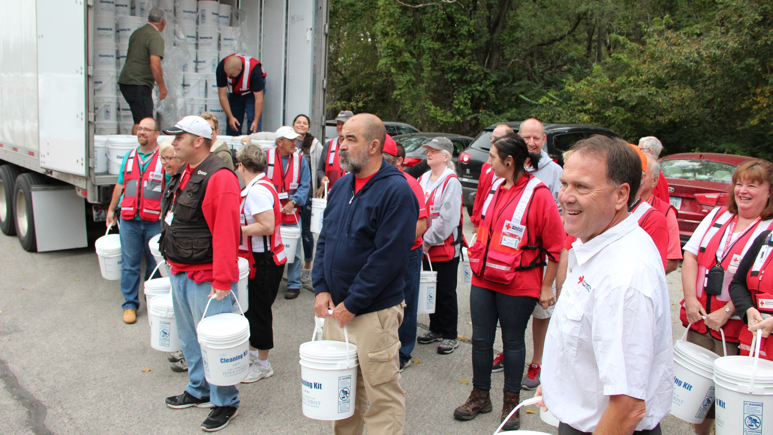 Red Cross Volunteers Pitch In