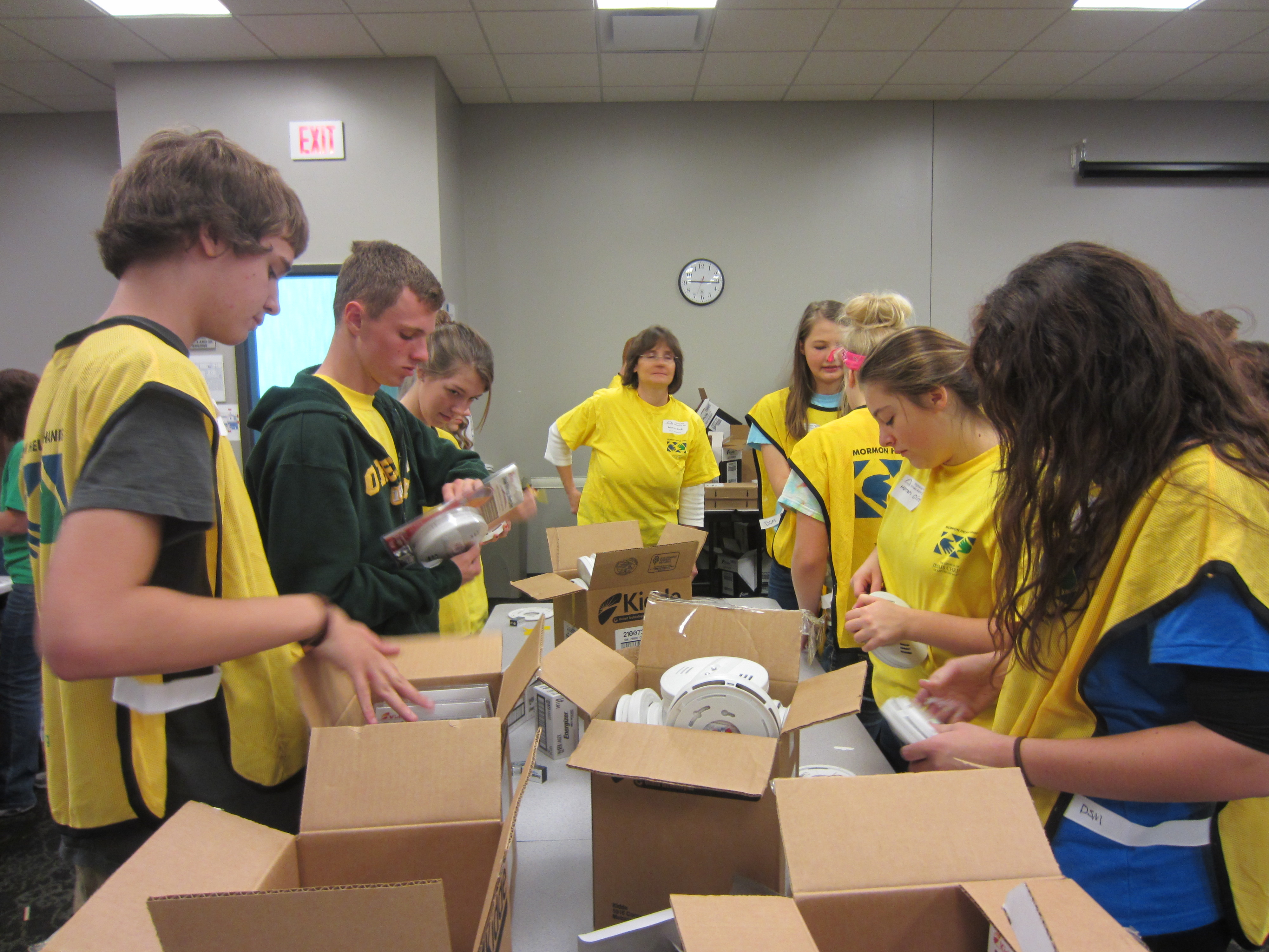 Youth serving Red Cross