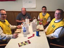 Lunch after serving in Burlington