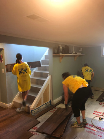 Tearing Out Floor Boards