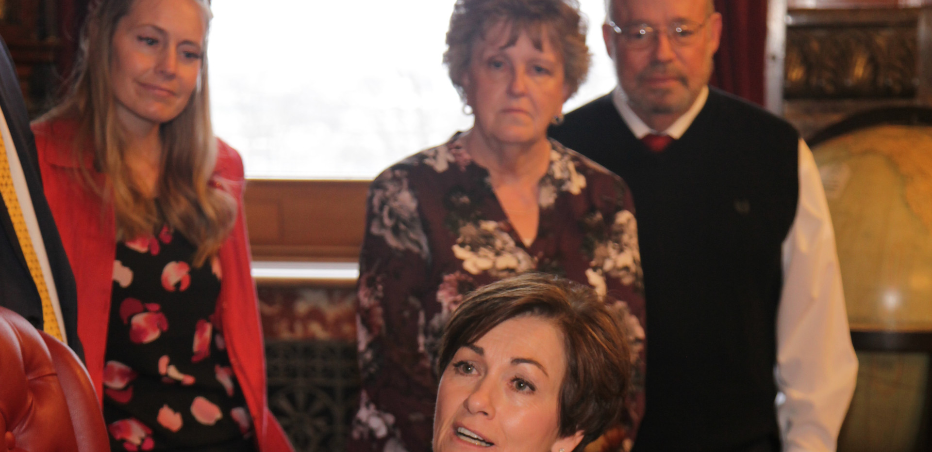 Governor Kim Reynolds discusses proclamation