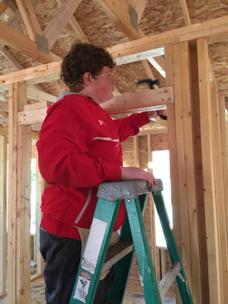 Serving with Habitat for Humanity