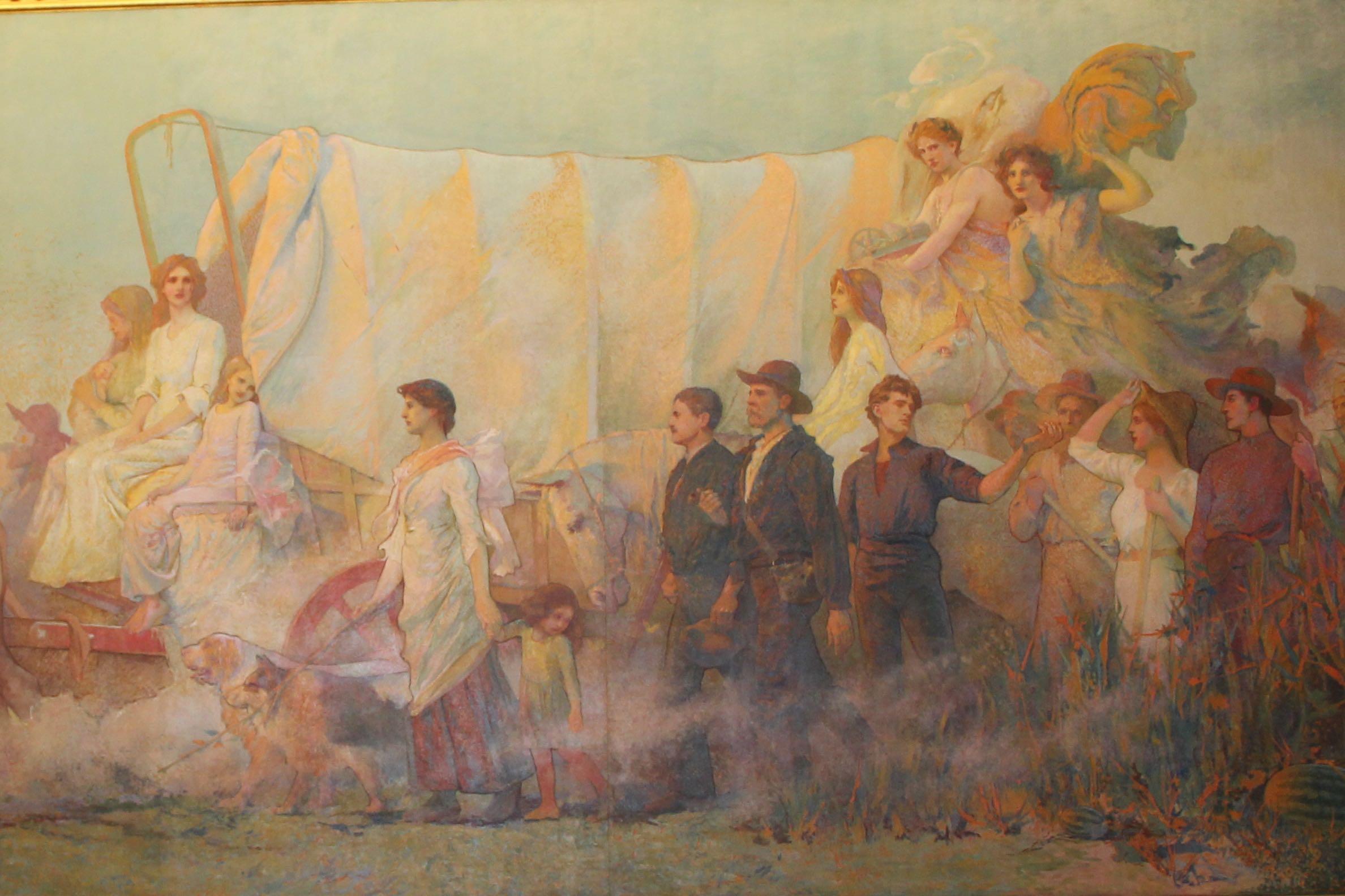 Iowa State Capitol pioneer art