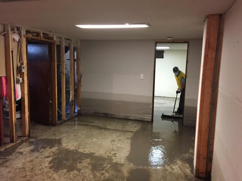 Cleaning basements
