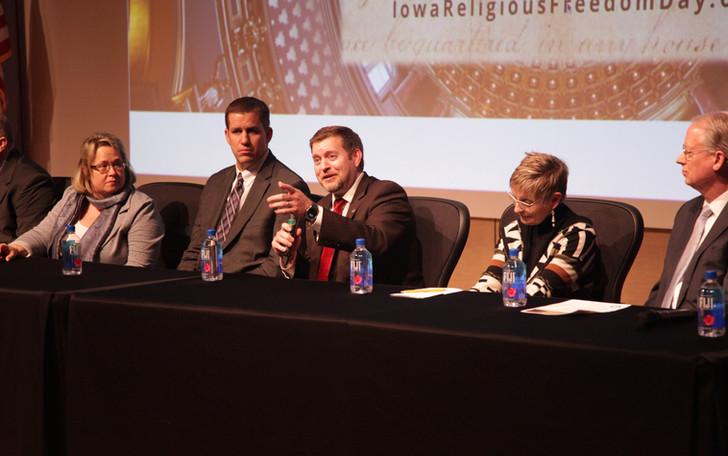 Senator Jake Chapman answers a question