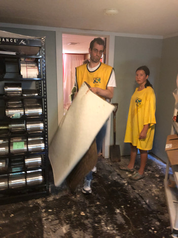 Cleaning a Basement